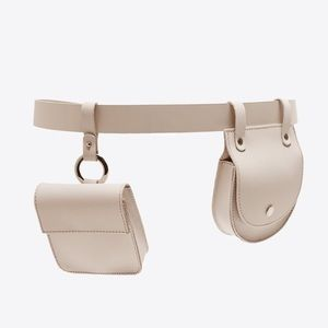 Zara Leather Belt with Coin pockets Blogger's Fav